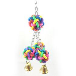 Резиновая игрушка с колокольчиками для птиц