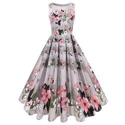 Virágos retro ruha - 50. évek