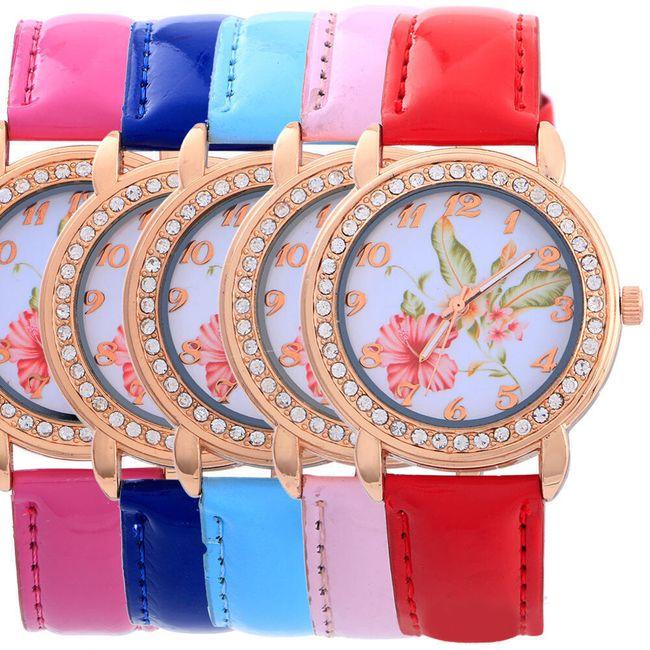 Ceas pentru femei cu flori roșii 1