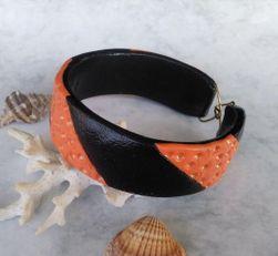 Náramek černo oranžový