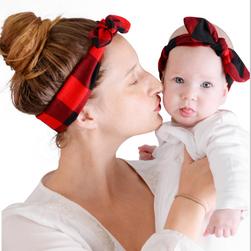Fejpántok szalaggal az anya és a baba számára