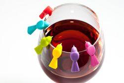 Аксессуар для бокала вина в виде птицы - 6 шт.