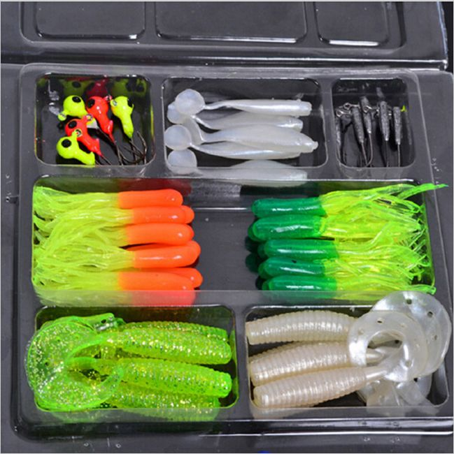 Set rybářských návnad a háčků - 45 kusů 1