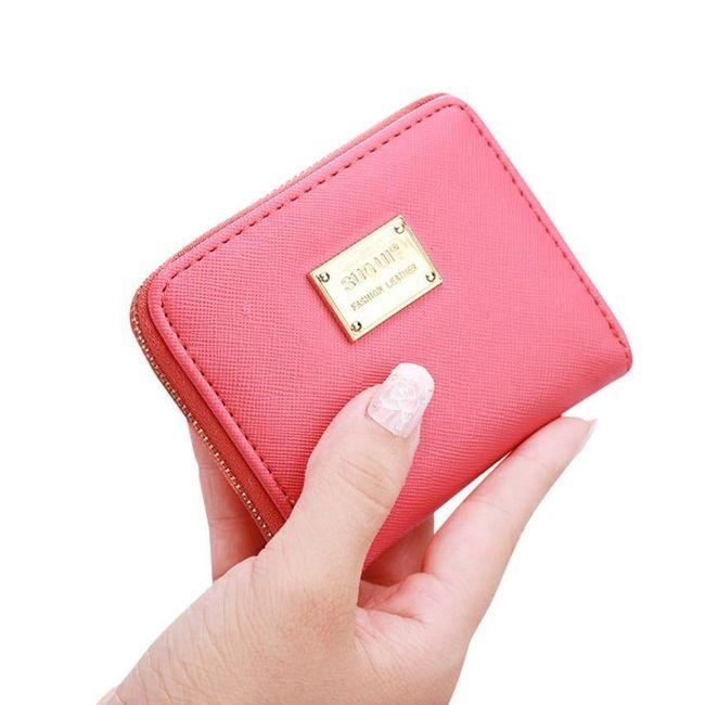 Malá dámská peněženka z umělé kůže - různé barvy 1
