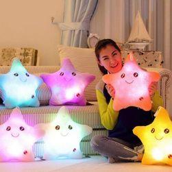Плюшена LED звезда, променяща цветове