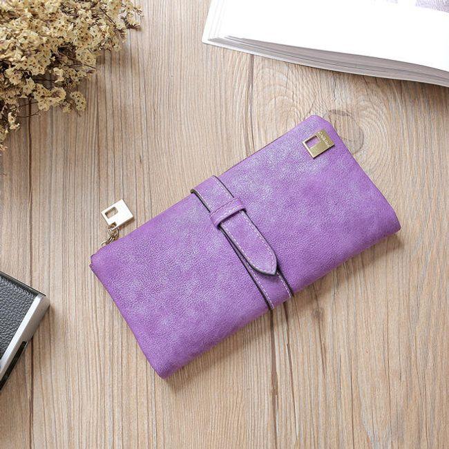Dámská matná peněženka s páskem - 6 1