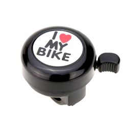 "Sonerie bicicletă cu inscriția ""I love my bike"" - 4 culori"