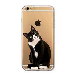 Прозрачный силиконовый чехол для iPhone 5 / 5s 6 / 6s 6Plus / 6sPlus - Мотивы животных