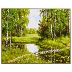 Malování podle čísel - krajina s potokem