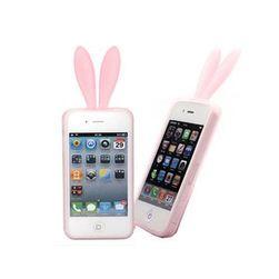 Zajíčkovský obal na iPhone 4 - růžový