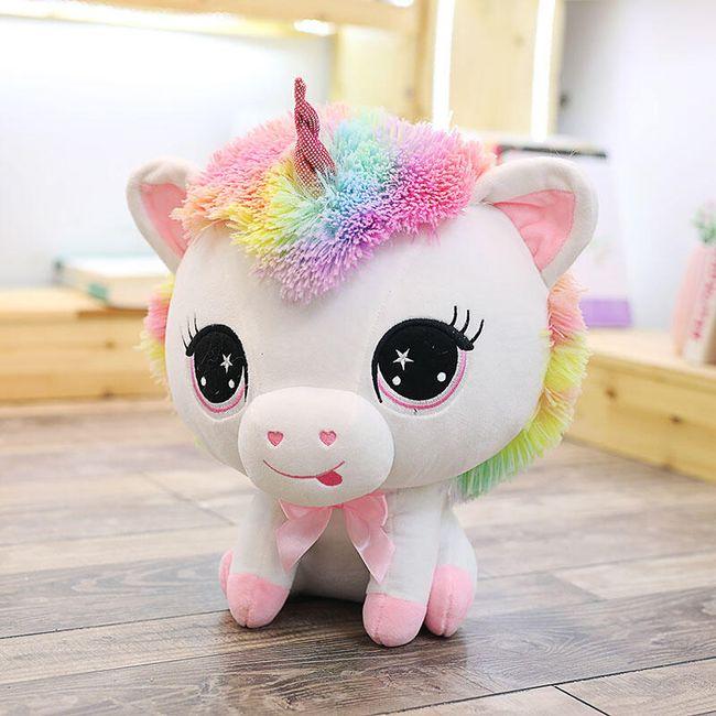 Мягкая игрушка, Единорог радужного цвета- 2 варианта 1