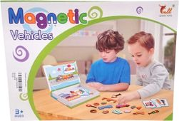 Stavebnice magnetická dopravní prostředky set 57 dílků v krabici SR_641695