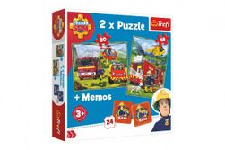 Puzzle 2v1 + pexeso Požárník Sam 27,5x20,5cm v krabici 28x28x6cm RM_89190791