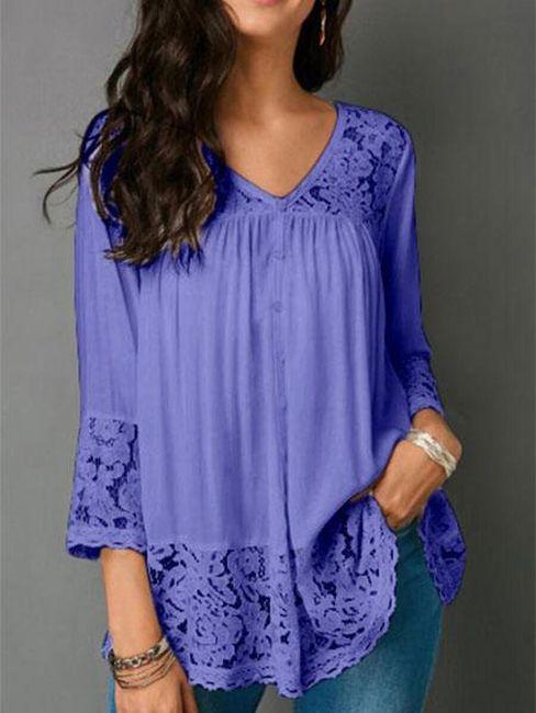 Ženska bluza sa čipkom Helaine - 6 boja 1