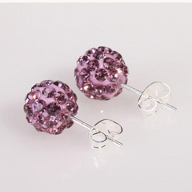 Náušnice se třpytivými krystalky - 10 barev 1