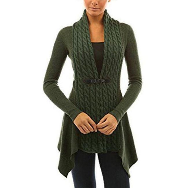 Dámský elegantní svetr Carmen - Zelená-L 1