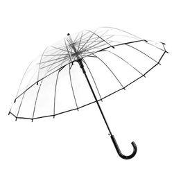 Prosty przezroczysty parasol