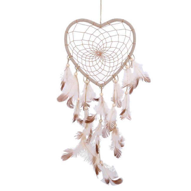 Biały łapacz snów- serce 1
