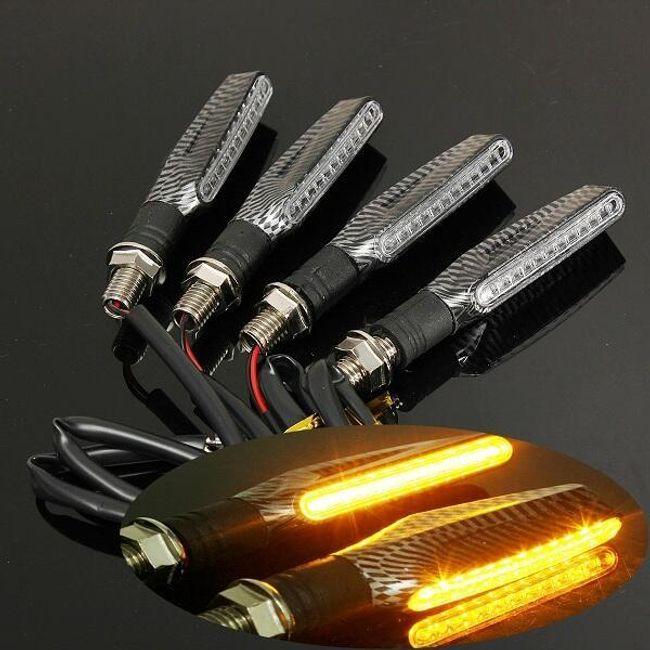 4 LED jelzőlámpa motorkerékpárhoz 12 LED-del 1