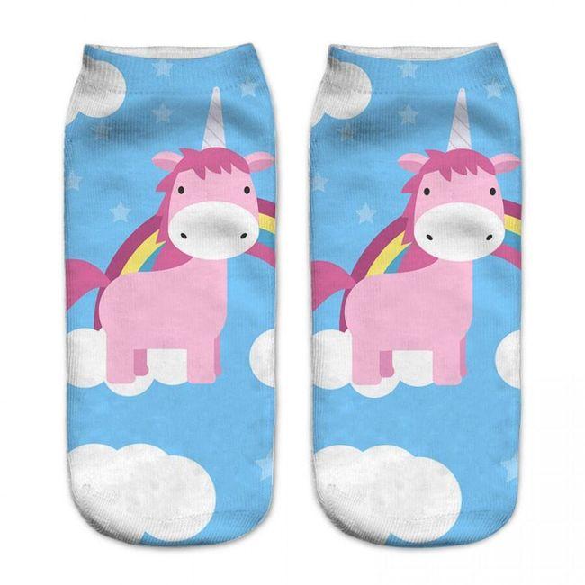 Ponožky s jednorožci - 15 variant 1