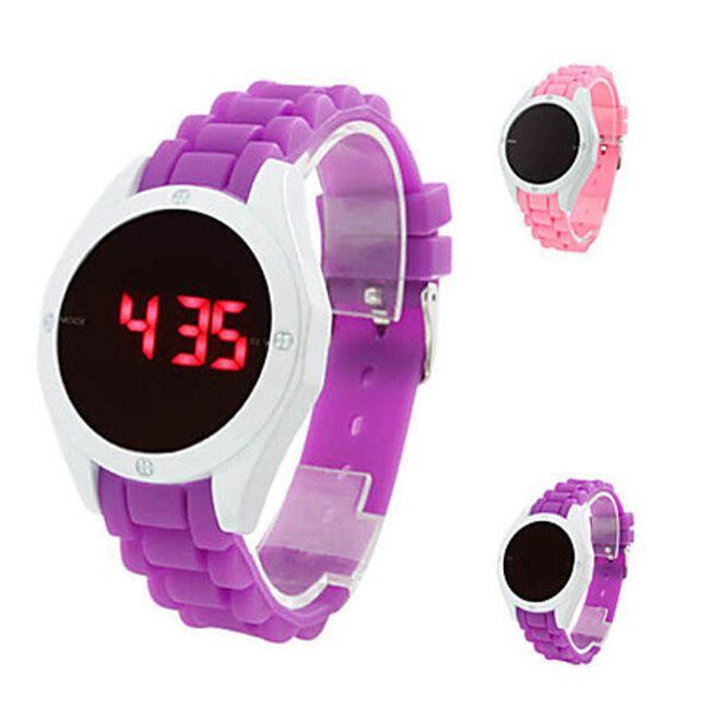 Silikonové LED hodinky s dotykovým displejem 1