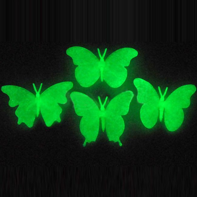 Флуоресцентни пеперуди на стената 1