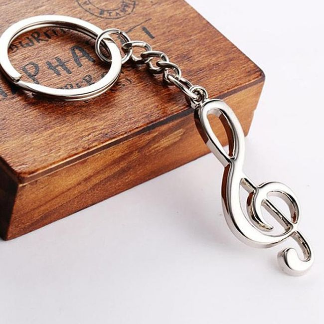 Přívěsek na klíče - houslový klíč 1