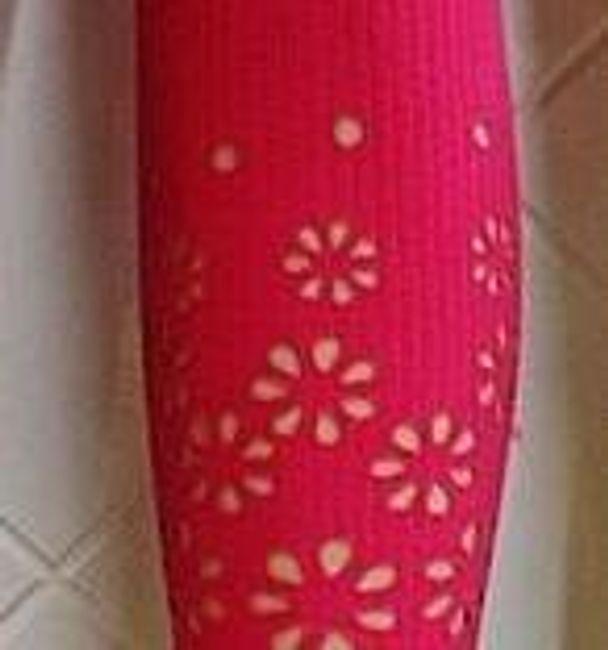 Tříčtvrteční legíny s kytičkami - Růžová - velikost č. 3 1