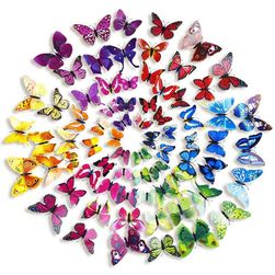 Большой набор 3D-бабочек - 72 шт.