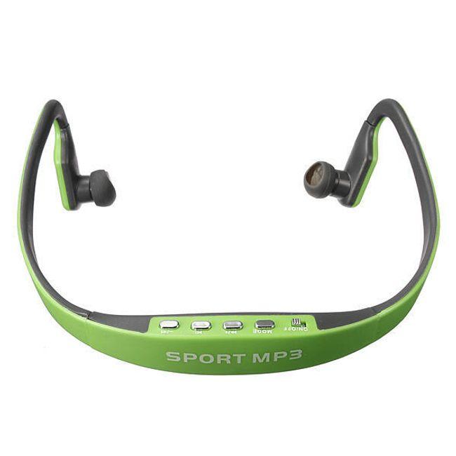 Športne brezžične slušalke z MP3 predvajalnikom - 5 barv Zelena 1