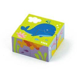 Fa puzzle kockák a legkisebb bálna számára RW_40420