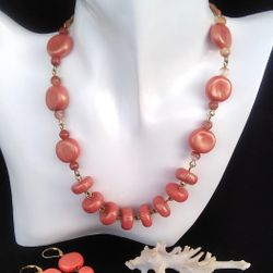 Sada šperků s minerálem Karneol