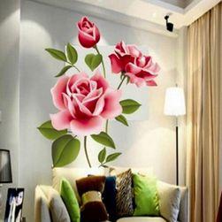 Романтическая большая наклейка на стену - роза