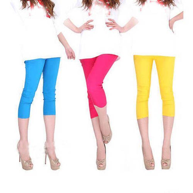 Dámské kalhoty v pestrých barvách 1