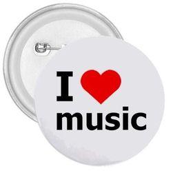 Kitűző I love music