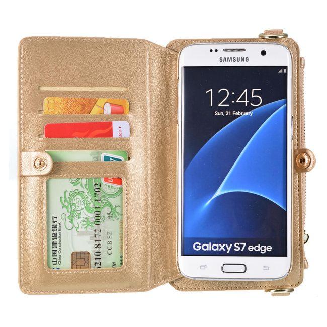 Pénztárca tokkal a Samsung Galaxy S7 Edge zsinórral