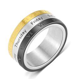 Pánský prsten v designu kalendáře