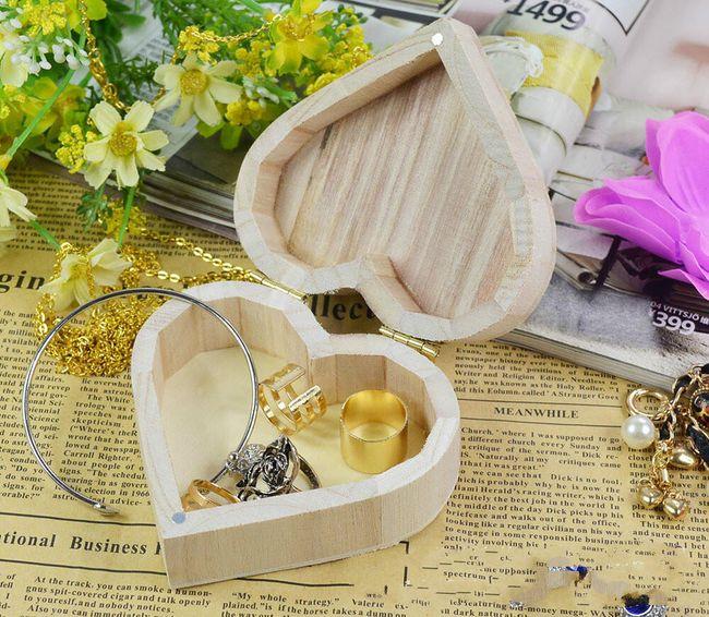 Šperkovnice - srdce dřevěné 1