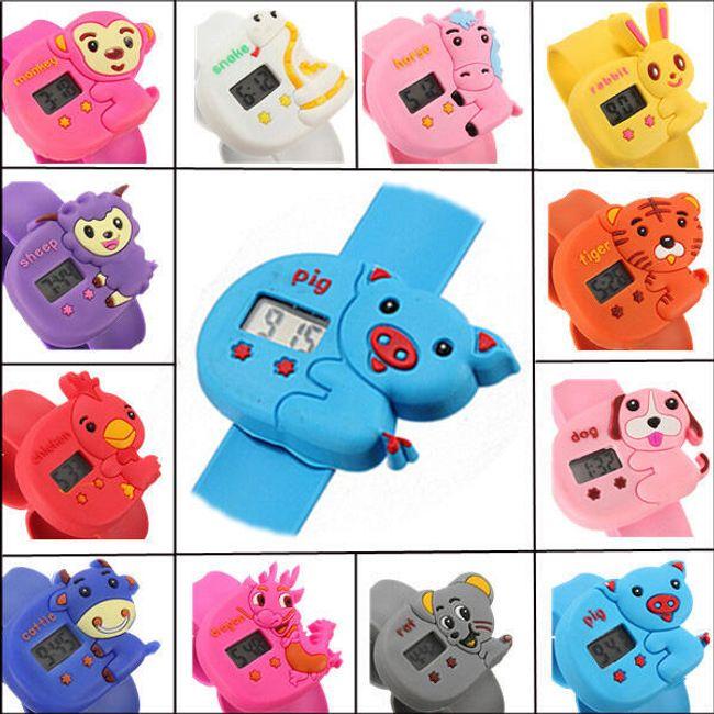 Dětské hodinky s roztomilými zvířátky -  7 motivů 1