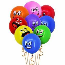 Kolorowe balony z buźkami - 10 sztuk