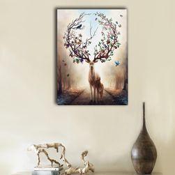 Bezrámový obraz s jelenem - 3 velikosti