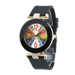 Часовник с цветни цифри