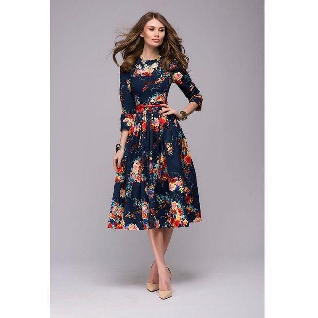 Haljina sa motivom cvetova - 4 veličine 1