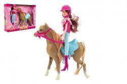 Kôň + bábika žokejka plast 23cm v krabici 35x26x8cm RM_00850385