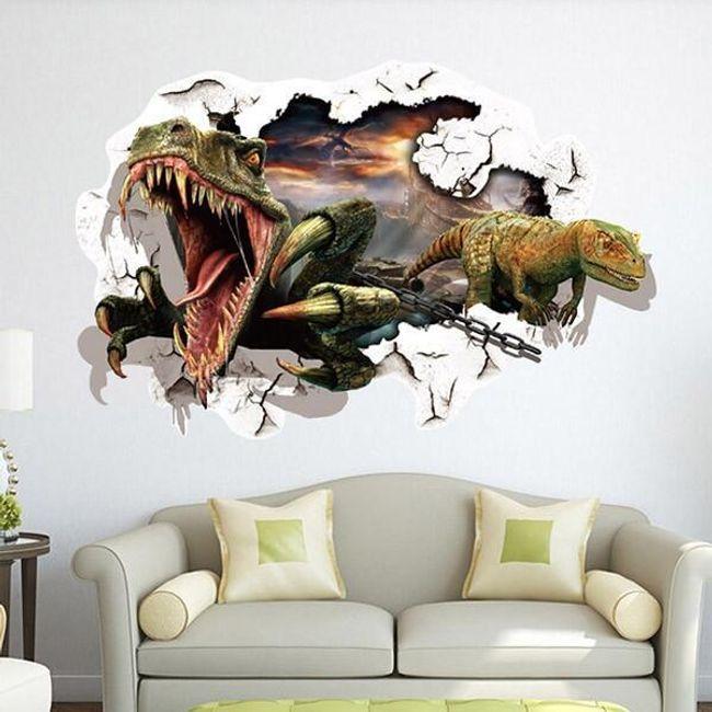 3D настенная наклейка- Динозавры 1