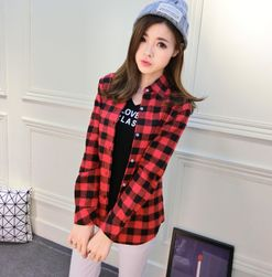 Női ing kockás mintával - több színben