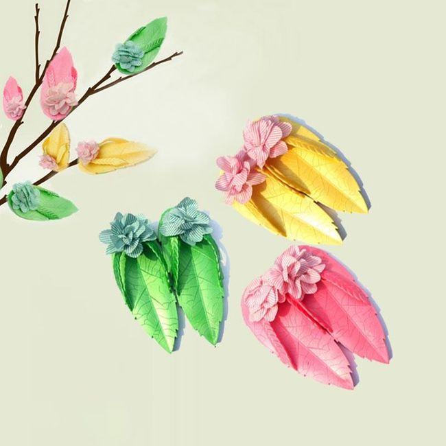 Letní sandálky v podobě listů s květy - 3 barvy 1