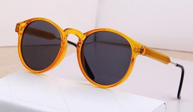 Retro sluneční brýle se silnými obroučkami 1