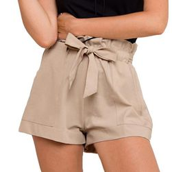 Női rövidnadrág, magas derékkal és zsebekkel - 4 szín