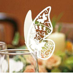 Svadbena dekoracija za čaše - leptiri - 50 komada
